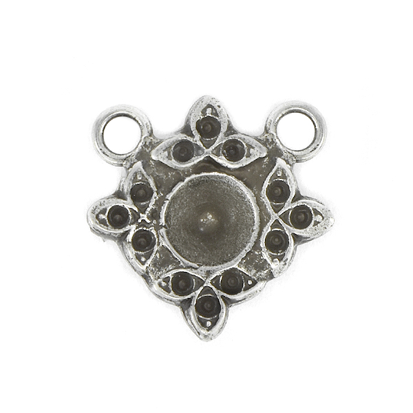 8pp, 24ss Floral Pendant base with two top loops