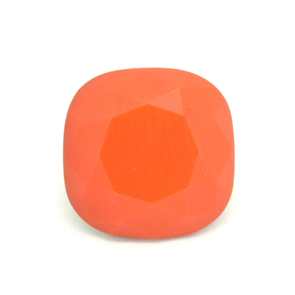 Opaque Orange Glass Stone for 4470 12X12mm Square setting