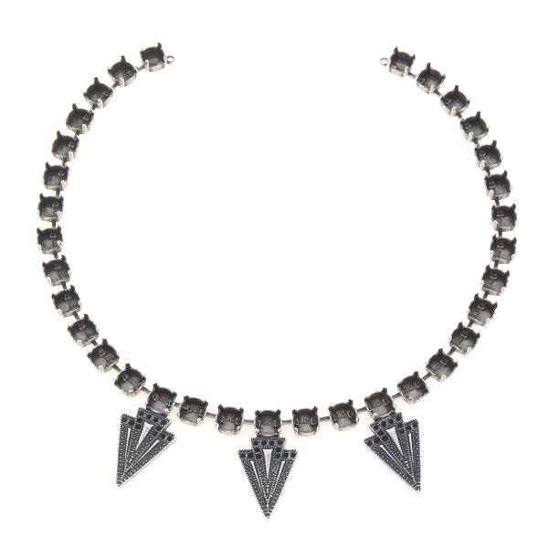 8pp, 39ss Cup chain necklace with metal arrows