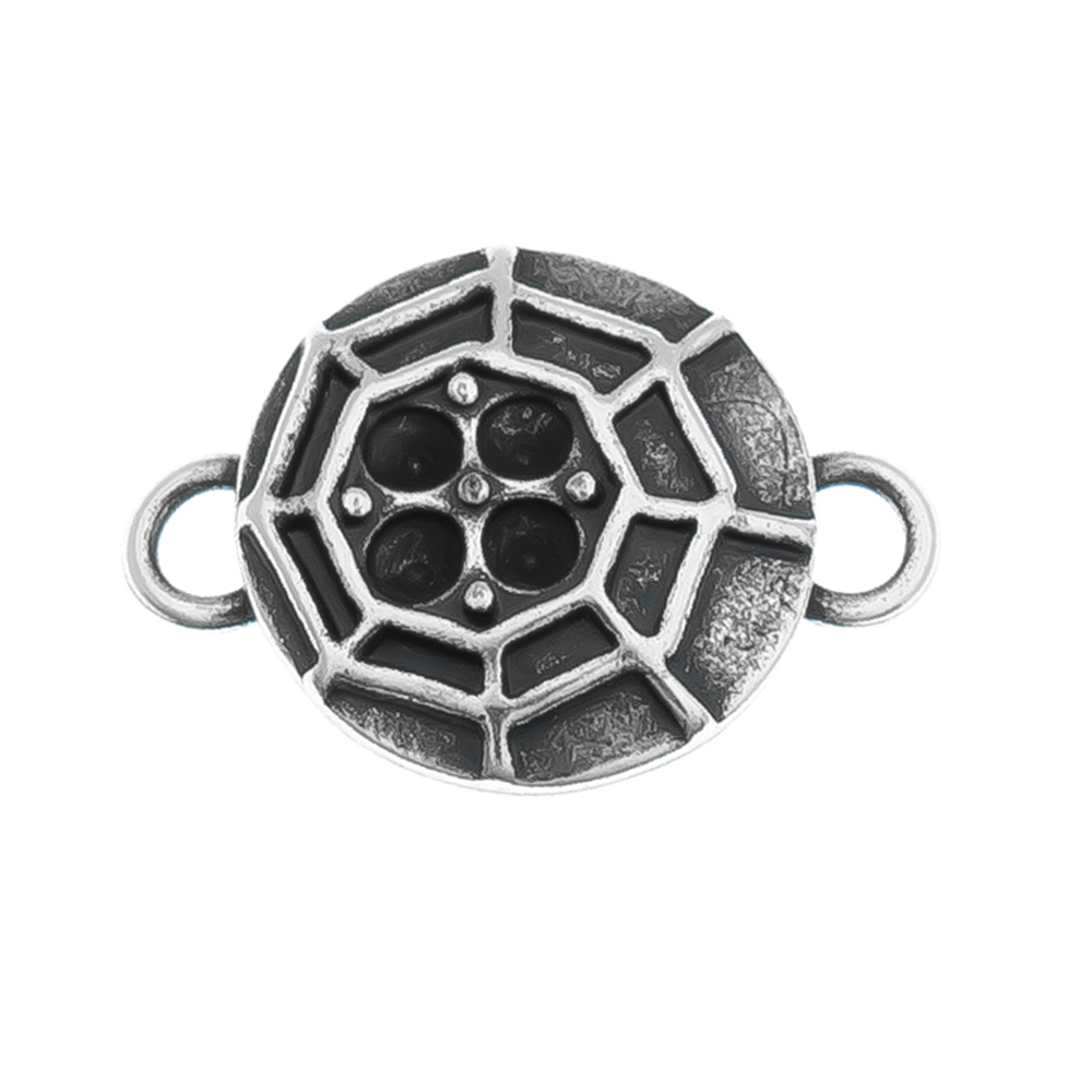 14pp Cobweb metal casting Connector base with two side loops