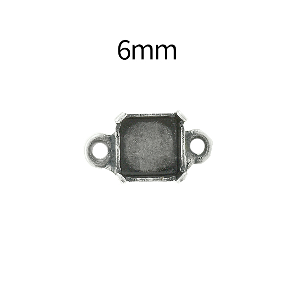 6mm Imperial 4480 Square Stone setting with two side loops