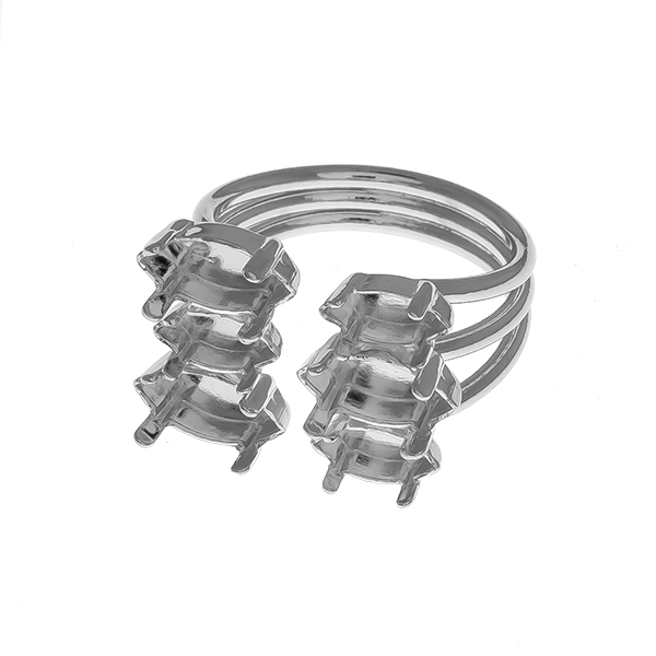 8x4mm / 10x5mm Navette settings adjustable open multi layered ring base