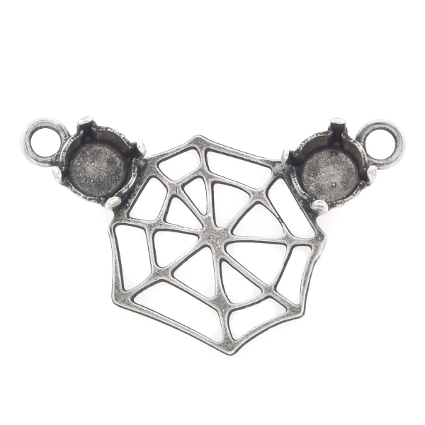 29ss Cobweb Pendant base with two top loops