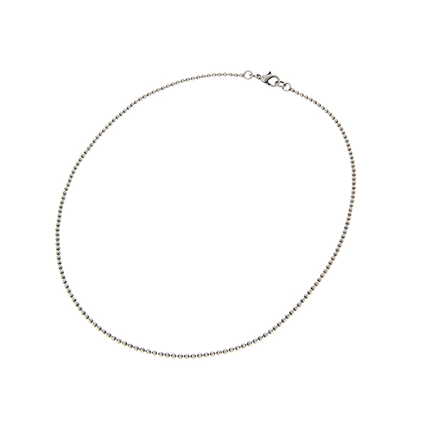 45cm of 2mm Ball chain necklace with clasp