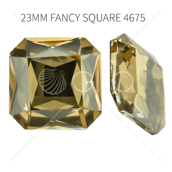 23mm Square Octagon 4675 Aurora Crystal Golden Shadow color
