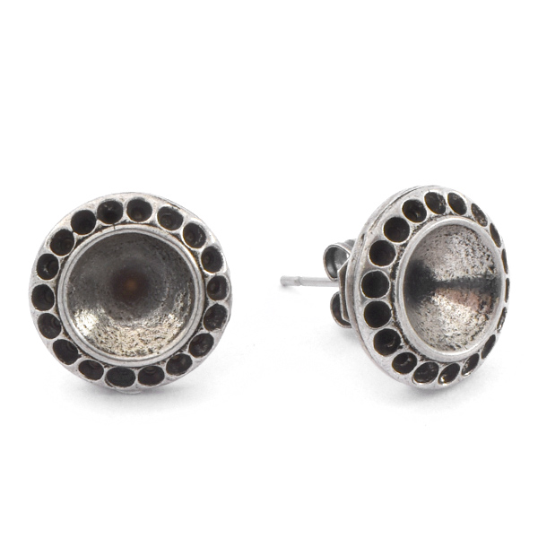 8pp, 39ss Round Stud Earring settings