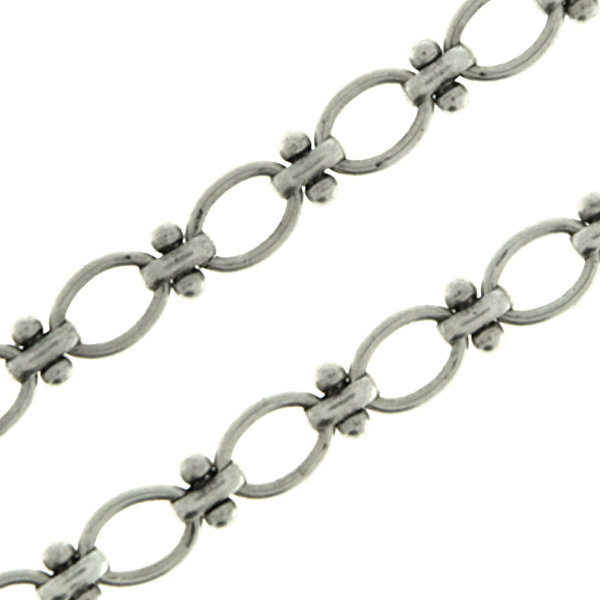 Oval decorative anchor brass link chain by meter