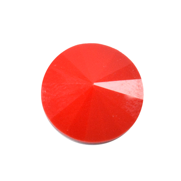 Opaque Red Glass Stone for 1122 Rivoli 12mm setting-2pcs pack