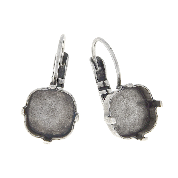 10x10mm Square Lever back Earring base
