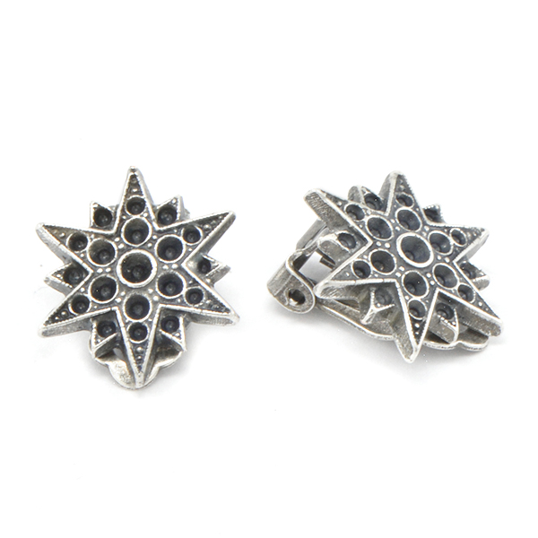 8pp, 14pp, 18pp Metal Casting North Star Clip-on Earring base