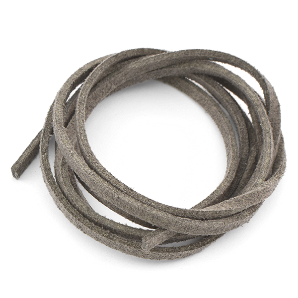 3mm Faux Suede Leather Cord Dark Grey color - 1 Meter
