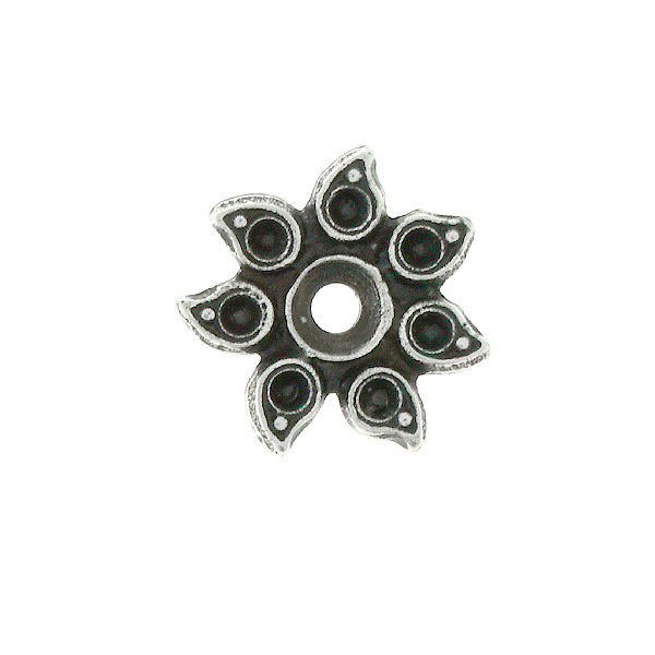 Metal casting Sunflower Embedding element for 32pp and 8pp crystals - 4pcs pack
