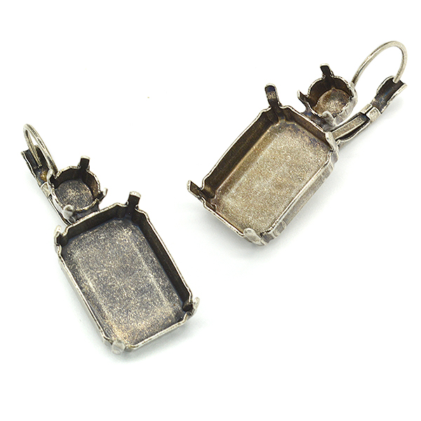 29ss,Octagong 13X18mm Hanging earring bases