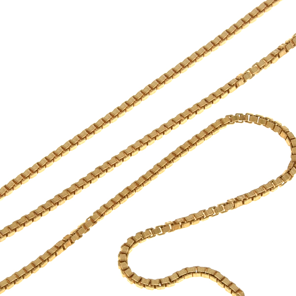 1mm Gold-filled Box chain