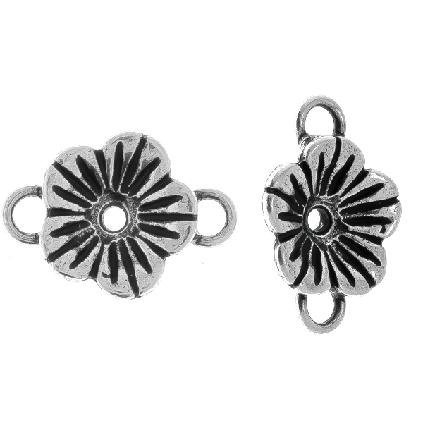 24ss Buttercup Flower metal casting Connector/Pendant base with two side loops