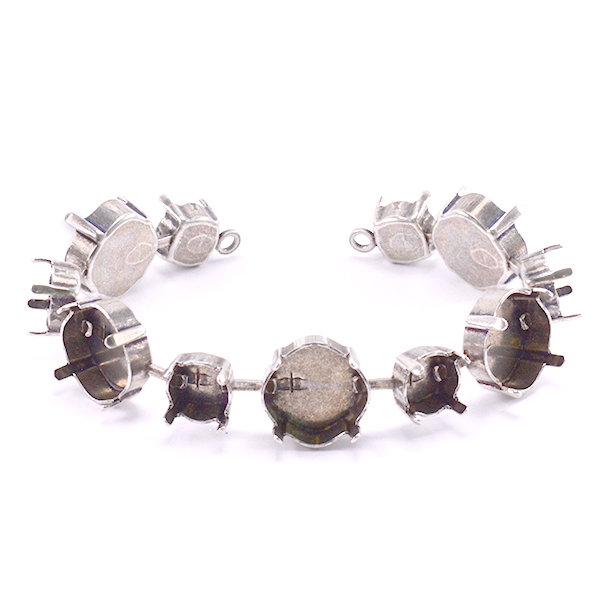 39ss and Square 12X12mm Bracelet base-11 settings