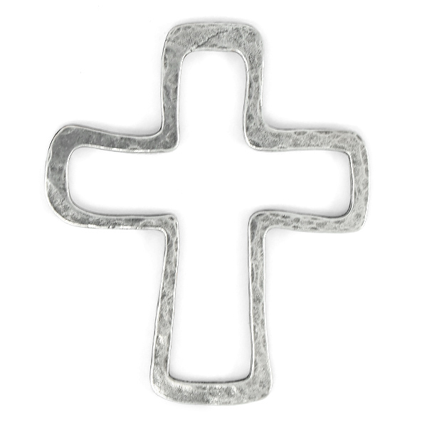 Cross shaped metal jewelry connector