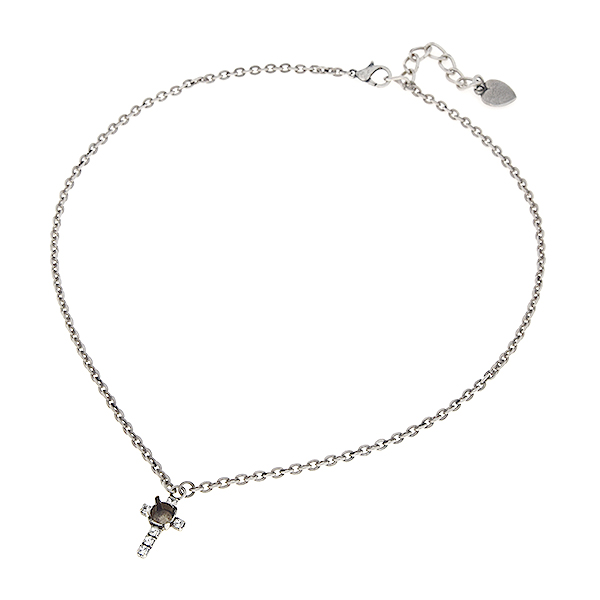29ss with 18pp Swarovski rhinestone Cross almost finished necklace