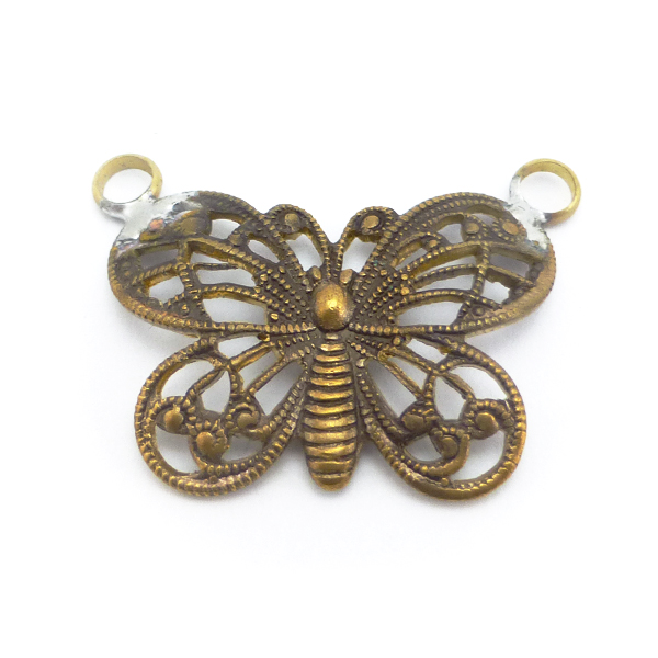 Butterfly Filigree pendant with 2 loops