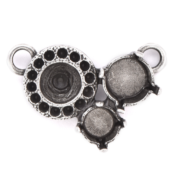 8pp, 29ss, 39ss Pendant base with 2 top loops