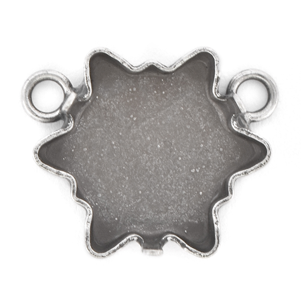 18mm Edelweiss Pendant base with two top loops