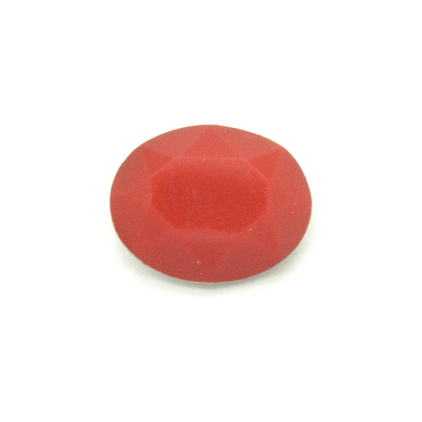 Opaque Red Glass Stone for Oval 10X8mm setting-5pcs pack