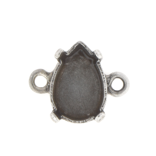10x7mm Pear shape Stone setting with two side loops