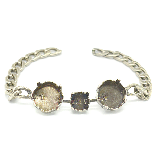 39ss and Square 12X12mm Gourmet Bracelet base