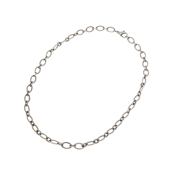 45cm Oval two-sizes link chain necklace with clasp