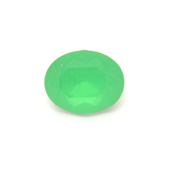 Opaque Green Glass Stone for Oval 10X8mm-5pcs pack