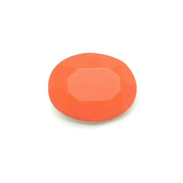 Opaque Orange Glass Stone for Oval 10X8mm setting-5pcs pack