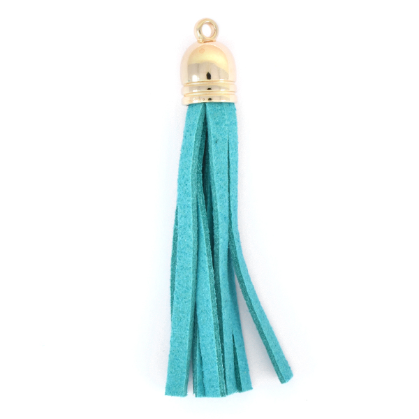 67mm Tassel for jewelry making Turquoise color