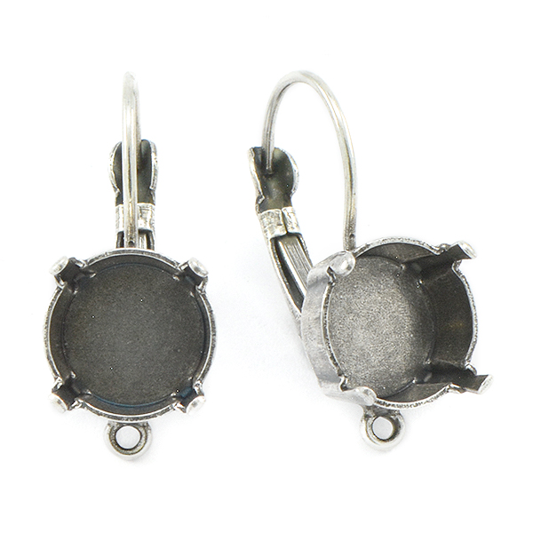 47ss Lever back Earring settings with bottom loop