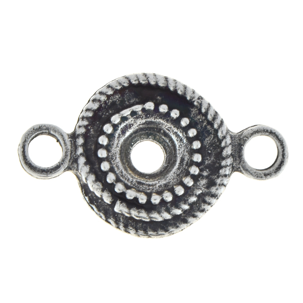 39ss Wave metal stone setting with two side loops
