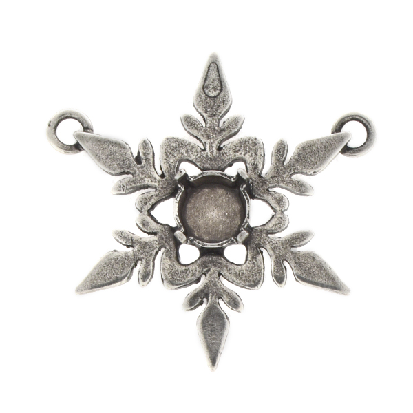 39ss Filigree Snowflake Pendant base with two top loops