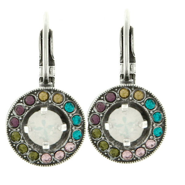 24ss stone setting and 8pp Hollow Circle metal casting Lever Back Earring bases
