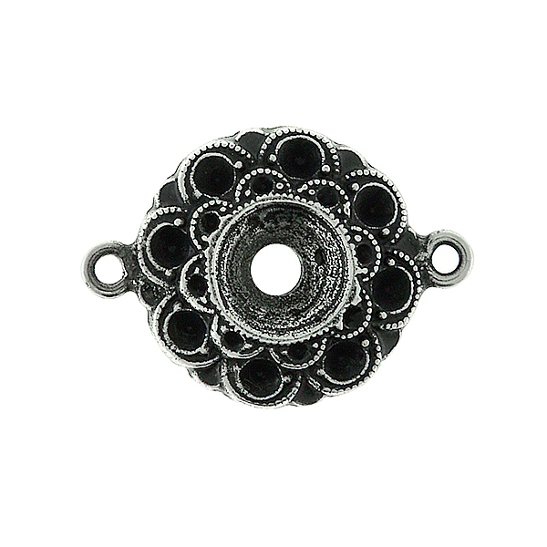 14pp and 29ss Metal casting Flower element Connector base with two side loops