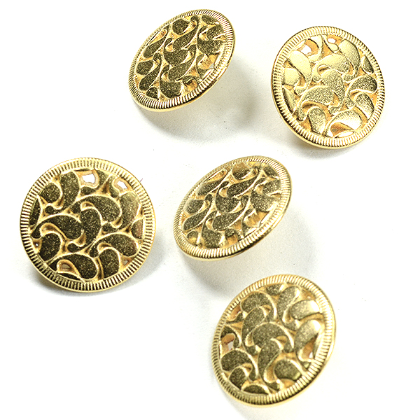 16mm Decorated gold color embedding buttons