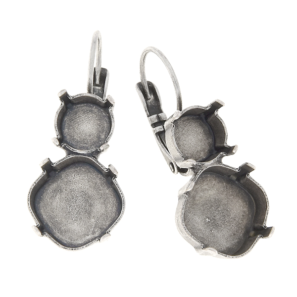 39ss and 12x12mm Square Lever back earrings base