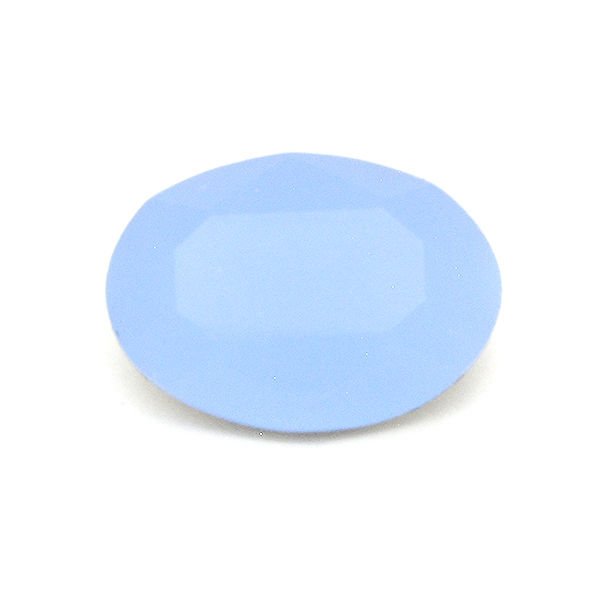 Opaque Light Blue Glass Stone for Oval 10X14mm setting-2pcs pack