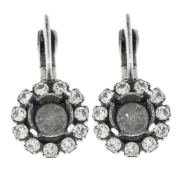 29ss Lever back Earring base with Rhinestones