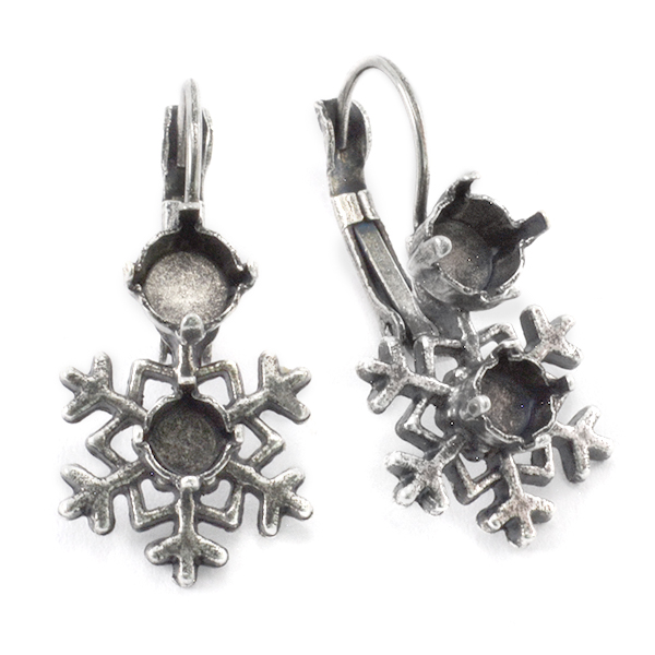 24ss and 29ss Snowflake Drop Earring base