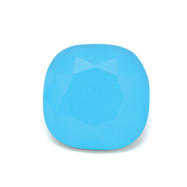 Turquoise Glass Stone for 4470 12X12mm Square setting