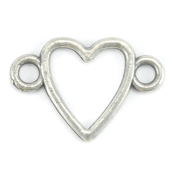 Heart Casting connector with two side loops