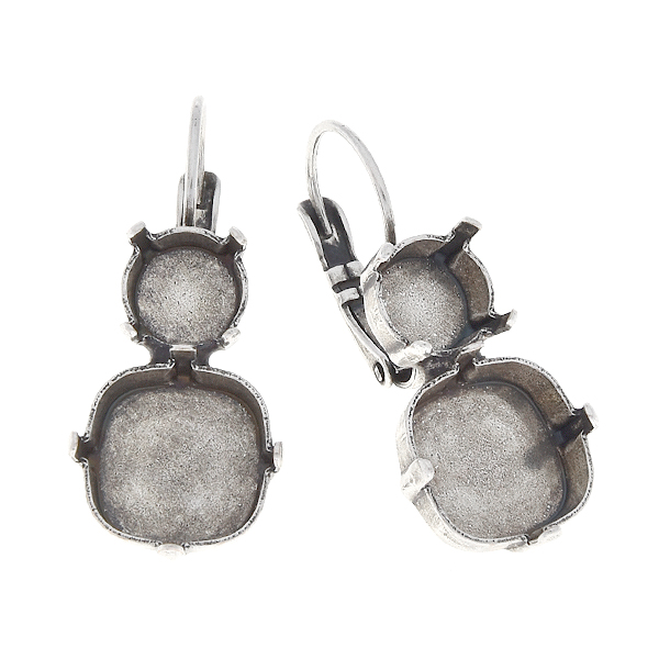 39ss and square 12mm hanging earrings base