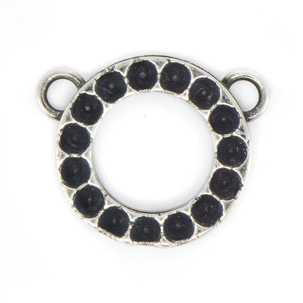 18pp Round Pendant base with two top side loops