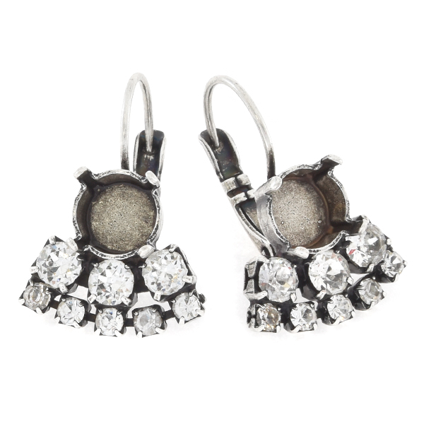 39ss with 14pp and 32pp Rhinestones Lever back Earring base