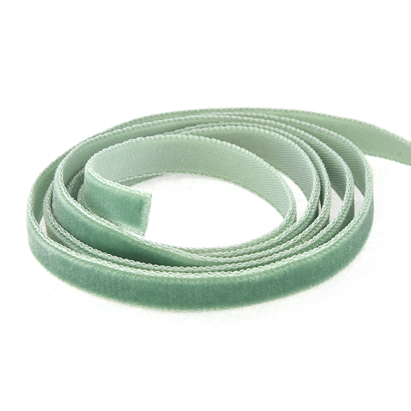 8.5-10mm Velour Ribbon Green color - 2 meters
