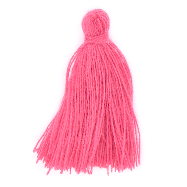 30mm Thread Tassel for jewelry making Fuchsia color - 4pcs pack