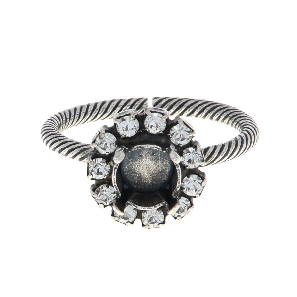 29ss Thin ring base with Rhinestones